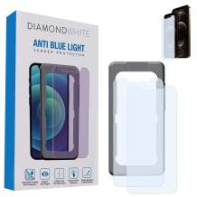 """DiamondWhite Anti-Blue Light Screen Protector – Tempered Glass Protector For iPhone 12 Pro Max (6.7"""") – Fingerprint & Scratch Resistant, Oleophobic Coating, MOHS 9H Rating"""
