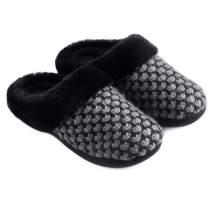 Zigzagger Women's Breathable Knit Slippers Cozy Memory Foam House Shoes Nonslip Rubber Sole Footwear