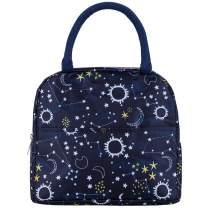 Beyond 280 Reusable Lunch Bag for Women and Girls, Insulated Cute Lunch Box for Outdoor School Travel and Work (Navy)