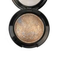 Mallofusa Single Baked Eye Shadow Palette Shimmer Metallic Eyeshadow Powder Makeup in 15 Colors (Madrid Golden)