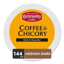 Community Coffee Coffee & Chicory Single Serve K-Cup Compatible Coffee Pods, Box of 36 Pods (Pack of 4)