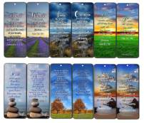 Thanksgiving Bible Verses Bookmarks (60-Pack) - Perfect Gift Away for Sunday Schools - Church Ministry Supplies Classroom Teacher Incentive Gifts Giveaways - Stocking Stuffers Devotional Bible Study