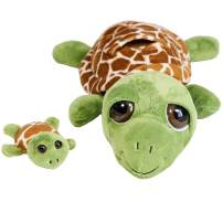 """The Petting Zoo -Bright Eyes 10"""" Pocketz Mom & Baby Turtle - Stuffed Animal Toy - Great for Baby/Toddlers/Kids - Boys & Girls"""