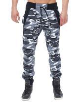 MODCHOK Men's Jogger Pants Camo Cargo Trousers Camouflage Sports Twill Drawstring Casual Chino Sweatpants