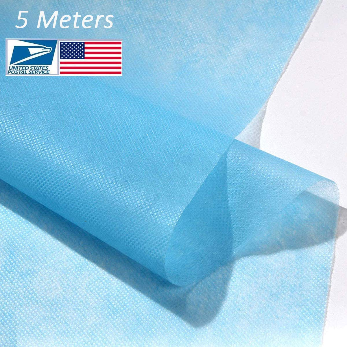 Disposable Waterproof Non-Woven Fabric Cloth,95% Polypropylene Fabric,DIY Handmade Material,Waterproof and Breathable Skin-Friendly and Soft (5M)