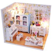 WADILE DIY Miniature Dollhouse Kit, DIY House Kit with Dust Proof and Music Movement, Best Gift for Adults and Teens Over 14 Years Old