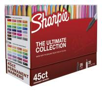 Sharpie Permanent Markers Ultimate Cosmic Color Collection, Fine and Ultra Fine Points, Assorted Colors, 45 Count