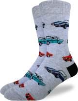 Good Luck Sock Men's Extra Large Cars Socks, Adult Shoe Size 13-17, Big & Tall