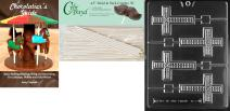 Cybrtrayd Cross Lolly Chocolate Candy Mold with 50 4.5-Inch Lollipop Sticks and Chocolatier's Guide