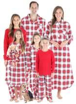 SleepytimePJs Christmas Family Matching Plaid Flannel Pajama Pj Sets
