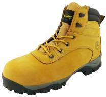 AMAZONE Men's 6 Inch Composite Toe Full Grain Leather Work Boots Construction Rubber Sole