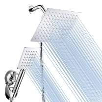 Baban Rainfall Handheld Shower Head Combo, Stainless Steel