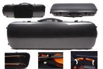 4/4 New violin Case Carbon fiber Fiberglass Oblong case Strong Light Full size music Sheet Bag (caseb1)