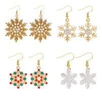4 Pairs Snowflake Earrings for Women Sparkly Holiday Earrings Christmas Earrings for Girls