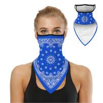 Bandana Face Mask for Men Women, Neck Gaiter Earloops Rave Balaclava Cover Scarf