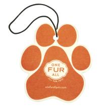 One Fur All Pet House Car Air Freshener, Pack of 4 – Mandarin Sage - Non-Toxic Auto Air Freshener, Pet Odor Eliminating Air Freshener for Car, Ideal for Small Spaces, Dye Free Dog Car Air Freshener