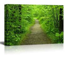 """wall26 - Canvas Prints Wall Art - Walking Path in The Summer Forest 