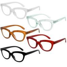 Eyekepper Reading Glasses for Women 5-Pack Half Moon Ladies Readers