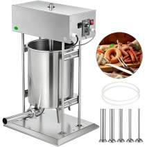 VBENLEM Sausage Stuffer 25L Electric Sausage Stuffer Vertical Meat Stuffer Stainless Steel Large Capacity Sausage Maker Commercial Meat Filler Machine with 5 Filling Funnels for Home Restaurant Use
