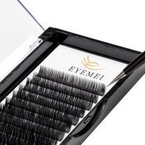 Eyelash Extensions 0.10mm C Curl 8-15mm Black Natural Faux Mink Eyelash Extensions Single length 3D False Eyelashes Professional Use by EYEMEI