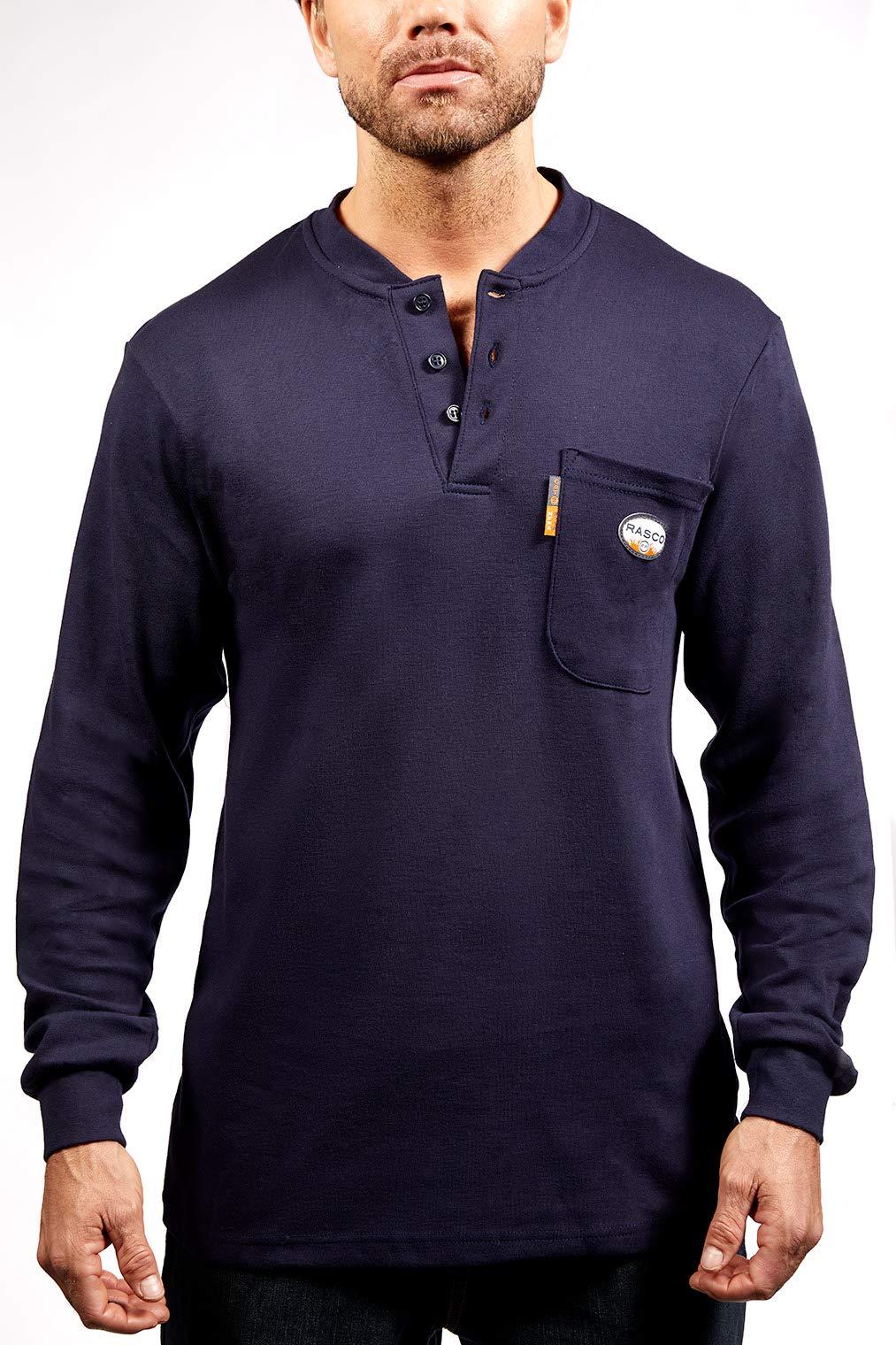 Rasco FR Mens Rasco Navy LS Work Tshirt