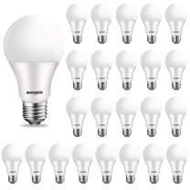 24-Pack 60W Equivalent LED Light Bulb, 2700K Soft White, E26 Medium Base, A19 Energy Efficient Light Bulb, Non-dimmable, UL Listed