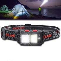 Rechargeable LED Headlamp, USB Rechargeable Headlight, 1000 Lumens Headlamp, with 9 Modes Light, IPX5 Waterproof, Hook, Super Bright Motion Sensor Headlamp, for Outdoor Camping Cycling Running Fishing