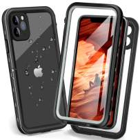 iPhone 11 Pro Max Waterproof case, Underwater Full Sealed Rugged Heavy Duty Protective Case Dustproof Snowproof Shockproof Waterproof Case for iPhone 11 Pro Max with Bulit-in Screen Protector (Black)