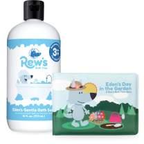 Rew's Bath Time - Unscented Natural Bubble Bath with Children's Bath Book (Unscented) (16 ounce)