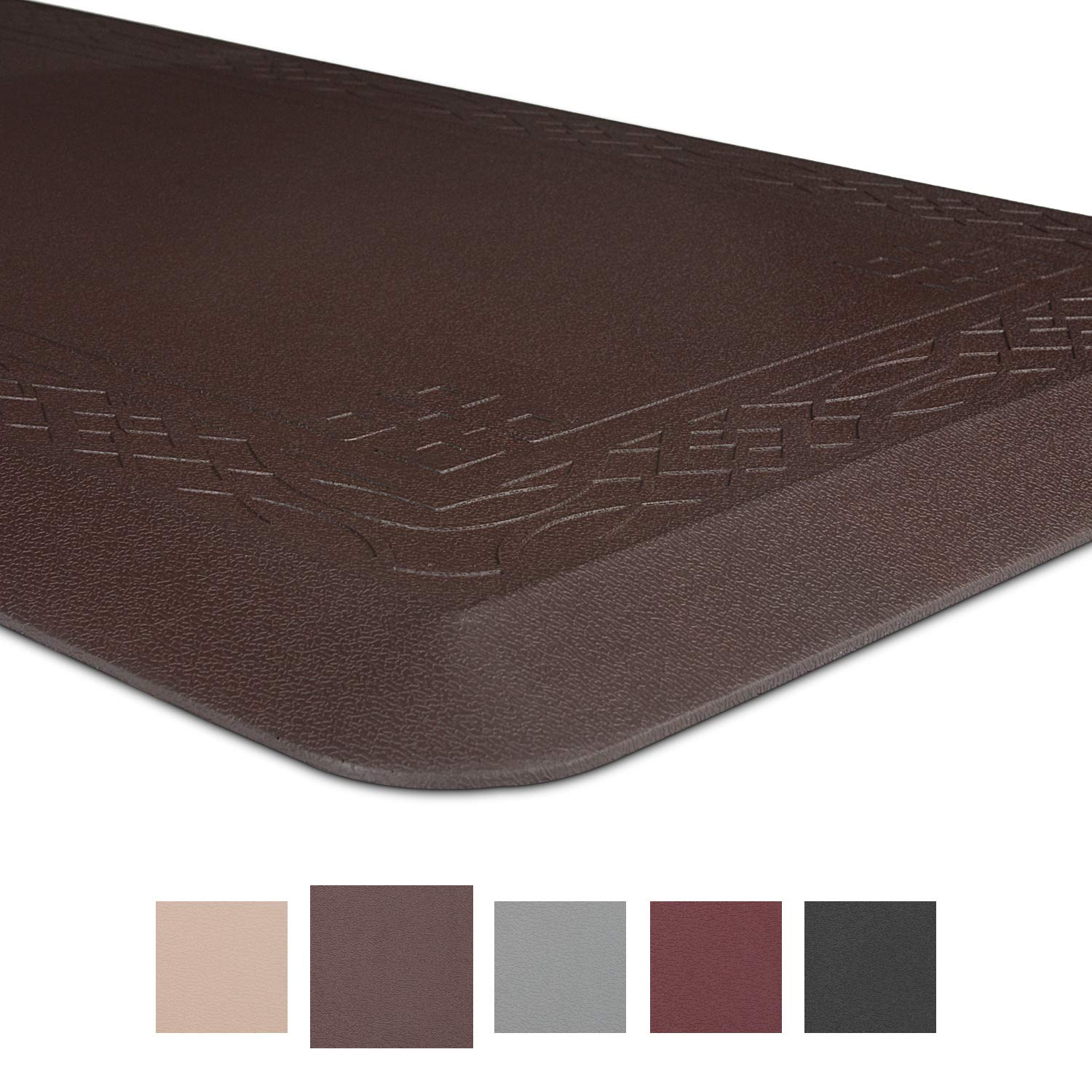 """Grand Era Anti-Fatigue Comfort Mat Multi Surface - for Kitchen, Bathroom or Workstations, 20"""" x 42"""", Coffee"""