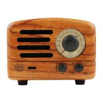 Muzen Audio Portable Wireless High Definition Audio FM Radio & Bluetooth Speaker - Hand Crafted Rosewood with Travel Case Included - Classic Vintage Retro Design