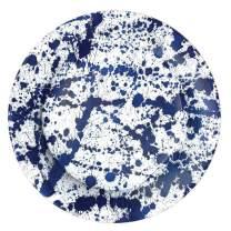 Caspari Splatterware Paper Dinner Plates in Blue - Pack of 8