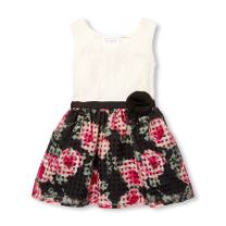 The Children's Place Baby Girls Flower Lace Sleeveless Dress