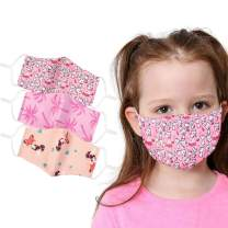 Children Face Mask Washable Cotton Fabric Cloth 2 Layer Reusable Kids Cute Print