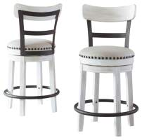 Signature Design by Ashley Valebeck Counter Height Bar Stool, White