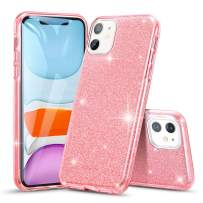 """ESR Glitter Case Compatible for iPhone 11 Case, Glitter Sparkle Bling Case [Three Layer] for Women [Supports Wireless Charging] for iPhone 11 6.1"""" (2019), Rose Gold"""