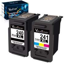 Valuetoner Remanufactured Ink Cartridge Replacement for Canon 240XL 241XL PG-240 XL CL-241 XL 5206B005 5206B001 for Pixma TS5120 MG3620 MG3520 MX432 MX532 MX512 High Yield (1 Black, 1 Color, 2 Pack)