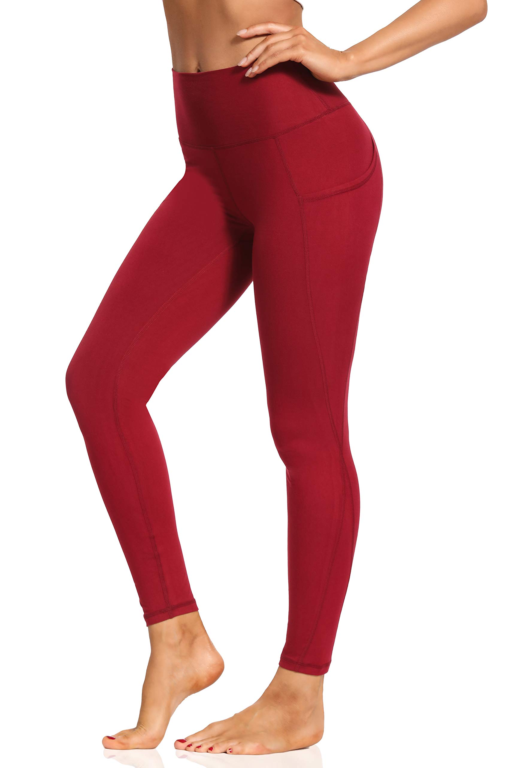 Foucome Buttery Soft Women's Leggings High Waisted Yoga Pants with Pockets Tummy Control Workout Tights