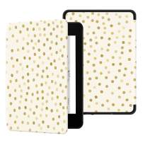 Ayotu Water-Safe Case for Kindle Paperwhite 2018 - PU Leather Smart Cover with Auto Wake/Sleep - Fits Amazon All-New Kindle Paperwhite Leather Cover (10th Generation-2018),K10 Gold Point