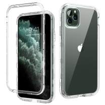 DOMAVER iPhone 11 Pro Max Case Clear Triple Layer Heavy Duty Hybrid Hard PC Flexible TPU Cover Shockproof Protective Transparent Phone Cases for iPhone 11 Pro Max 6.5 inch (2019), Crystal Clear
