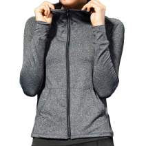 ALLUSIVE Ambition Womens Full-Zip Active Hoodie - Lightweight Performance Workout Long Sleeve Hooded Jacket with Pockets