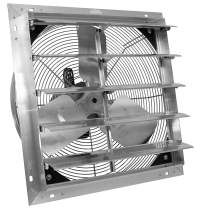 VES Exhaust Shutter Fan, Ventilation Fan, Wall Mount, 9' Cord (12 inch size)