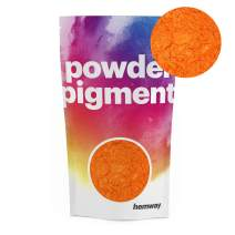 Hemway Pigment Powder Colour Luxury Ultra-Sparkle Dye Metallic Pigments for Epoxy Resin, Polyurethane Paint (Metallic Tangerine Orange, 100g / 3.5oz)