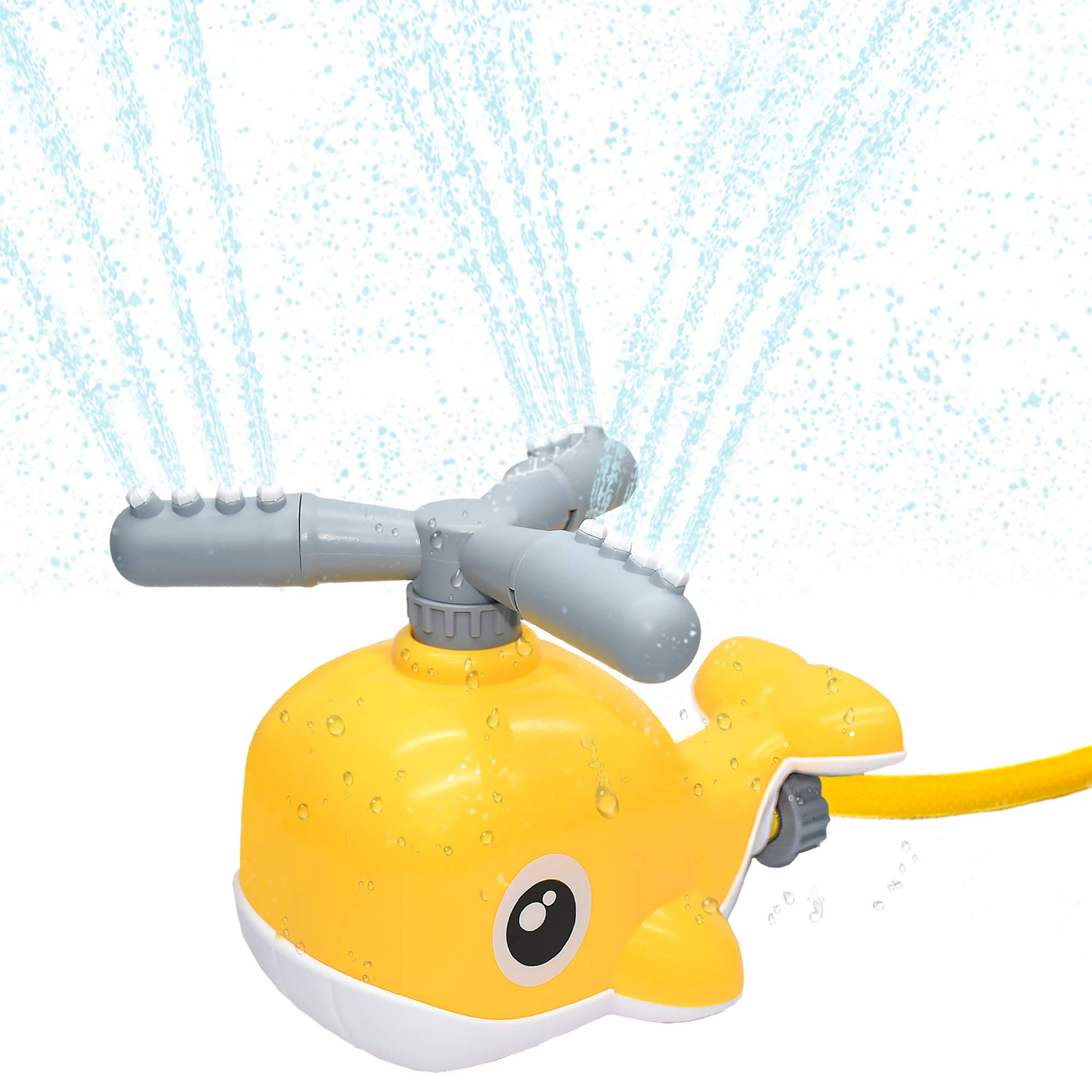 WOT I Sprinkler for Kids, 360 Degree Spinning Whale Sprinkler for Yard and Lawn, Outdoor Water Toys Fun Summer Play Gift for Boys Girls Adults Pets