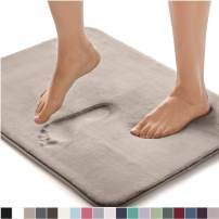 Gorilla Grip Original Thick Memory Foam Bath Rug, 60x24, Cushioned, Soft Floor Mats, Absorbent Premium's Bathroom Mat Rugs, Machine Washable, Luxury Plush Comfortable Carpet for Bath Room, Beige