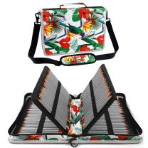 Shulaner Colored Pencil Case Organizer Nylon Canvas Large Capacity Portable Pencil Bag (160-Bird)