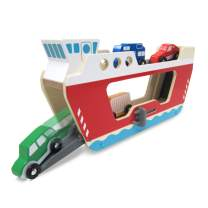 Melissa & Doug Wooden Ferryboat with 4 Wooden Vehicles, Great Gift for Girls and Boys - Best for 3, 4, and 5 Year Olds