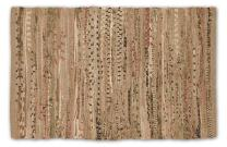 DII Contemporary Reversible Indoor Area Rag Rug, Machine Washable, Handmade from Recycled Fabrics, Unique For Bedroom, Living Room, Kitchen, Nursery and more, 4 x 6' - Taupe (Color may vary)