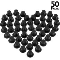 Mini Black Top Hats Plastic Top Hats Miniature Top Hats for Art and Crafts DIY Supplies (50)