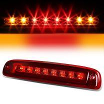 High Mount Red Housing Dual Row LED 3rd Third Tail Brake Light Cargo Lamp Replacement for Dodge Dakota 97-07